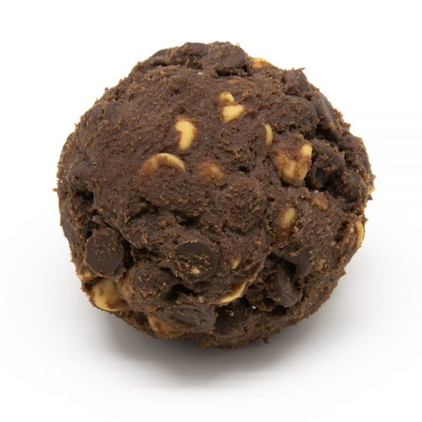 Chocolate w Dark Choc and Peanut Butter Chip - Dough Ball