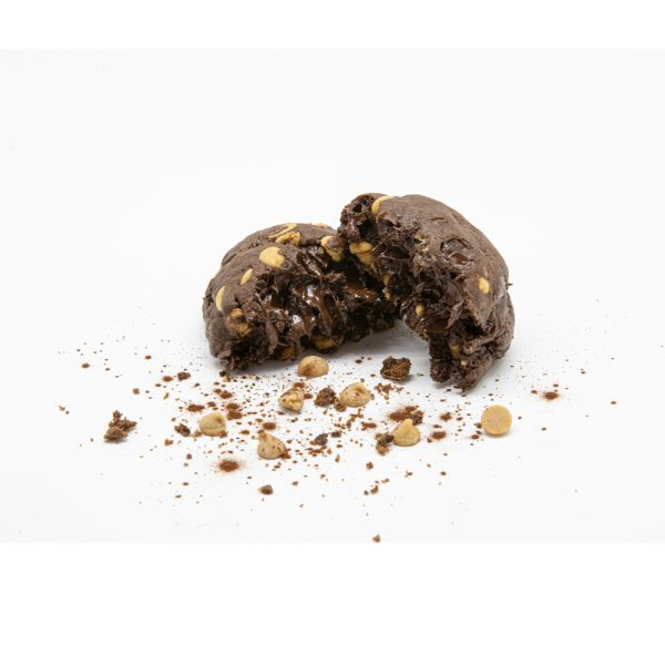 Chocolate w Dark Choc and Peanut Butter Chip - Open